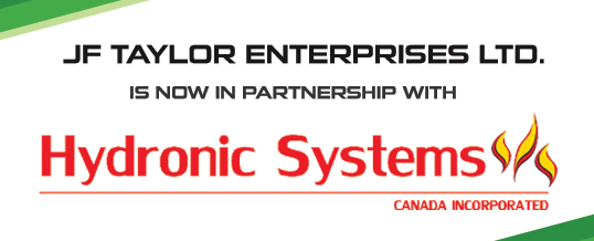 JF Taylor Enterprises Ltd. announces partnership with Hydronic Systems.