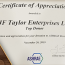 JF Taylor Enterprises accepts ASHRAE award